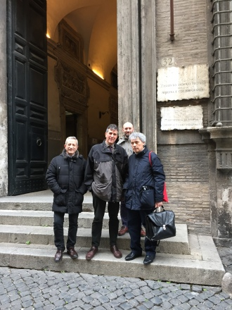 Instituto Storico Italiano, Roma - 3 de marzo 2016 - Con M. Mastrogregori, M. Moretti y F. J. Caspístegui